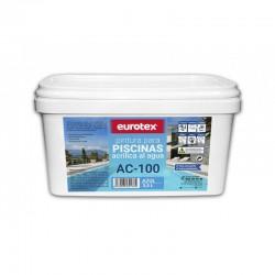 Pintura azul al agua para piscinas